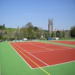 Polymeric Tennis Court Surfacing in Aberarth 4