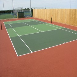 Polymeric Tennis Court Surfacing in Adber 8