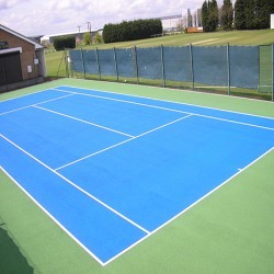Polymeric Tennis Court Surfacing in Aberarth 11