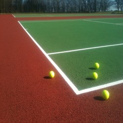 Tennis Court Polyurethane Painting in Aberdalgie 4