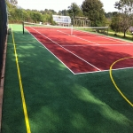 Polymeric Tennis Court Surfacing in Adber 12