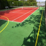 Tennis Court Polyurethane Painting in Aberdalgie 3
