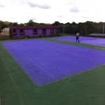 Tennis Court Polyurethane Painting in Aberdalgie 2