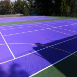 Polymeric Tennis Court Surfacing in Aberarth 1