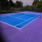 Relining Tennis Court in South Ayrshire 1