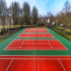 Polymeric Tennis Court Surfacing in Abthorpe 5