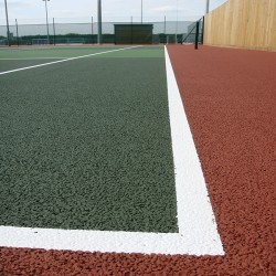 Polymeric Tennis Court Surfacing in Abergorlech 1