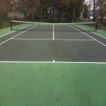 Polymeric Tennis Court Surfacing in Acrefair 4