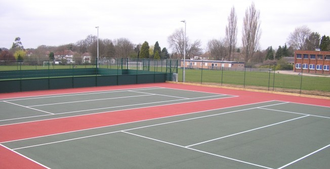 Tennis Courts Surfacing in Abbey Field