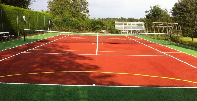 Tennis Court Recolouring in Ards
