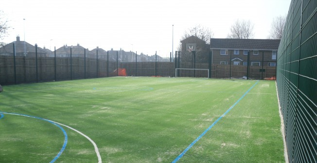 MUGA Tennis Surfacing in Thornly Park