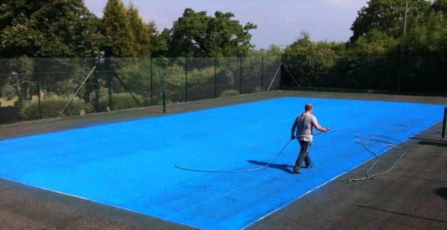 Refurbishing Sports Courts in East Dunbartonshire