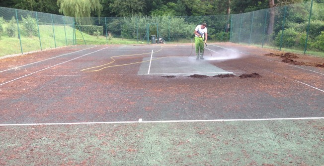 Tennis Court Cleaning in Abercarn