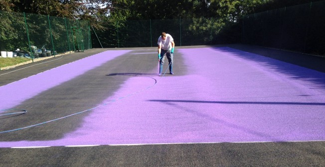 Resurfacing Sports Court in Abbots Morton