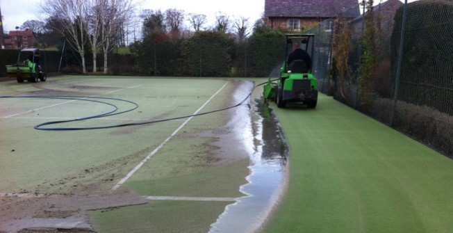 Cleaning Sport Surfaces in Aberffrwd