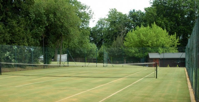 Artificial Turf Tennis Surface in Aiginis