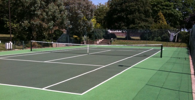 Tennis Court Refurbishment in East Dunbartonshire