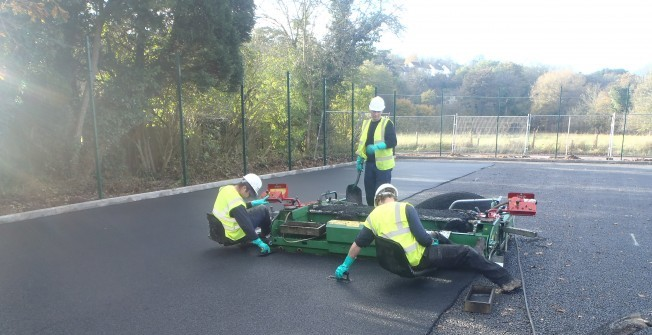 MUGA Tennis Resurface in Abbots Morton