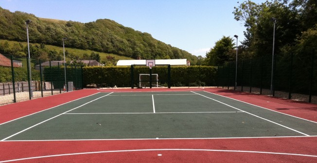 PU Tennis Court Paint in Abergwyngregyn