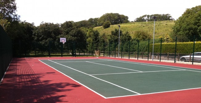 Polymeric Tennis Courts in Abergorlech