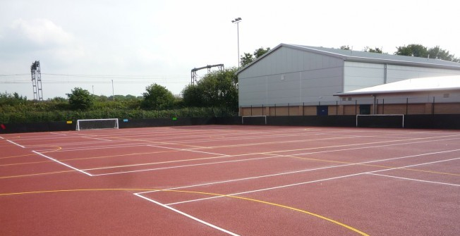 Tennis Surface Coatings in Abergwyngregyn