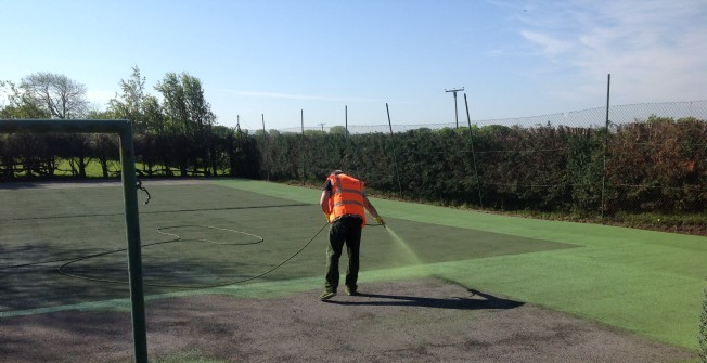 Tennis Court Coating in Aberchirder